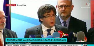 Puigdemont en roda de premsa des de Brussel·les el dia després de les eleccions del 21D