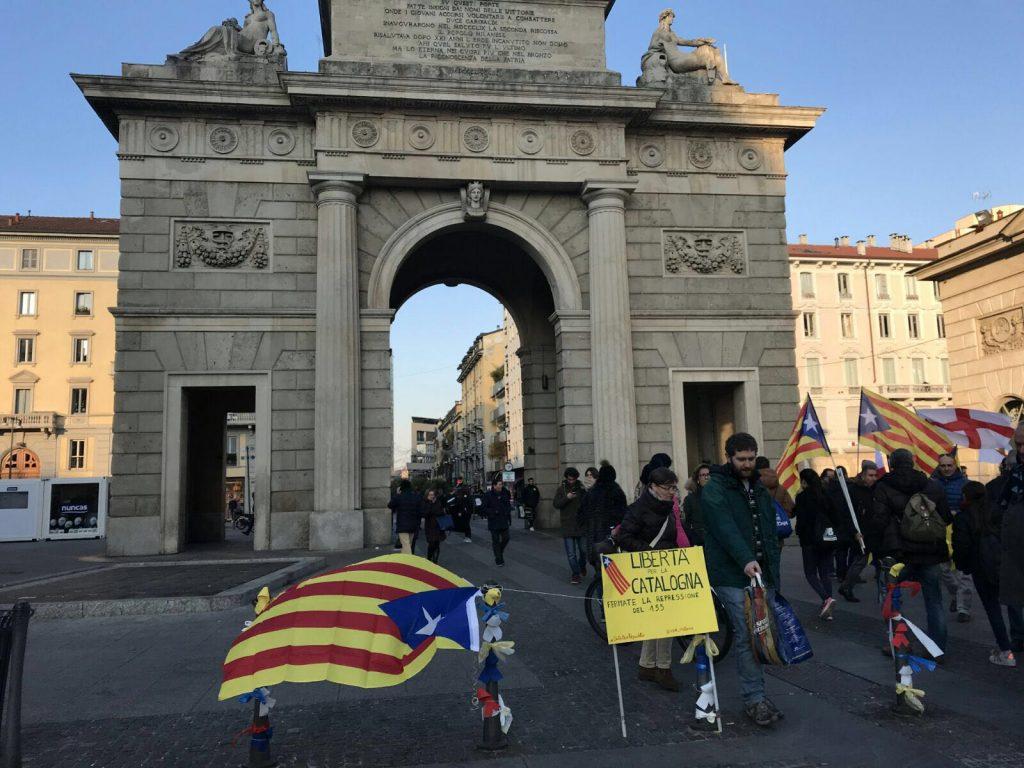 Acció contra els presos polítics del CDR de Milà