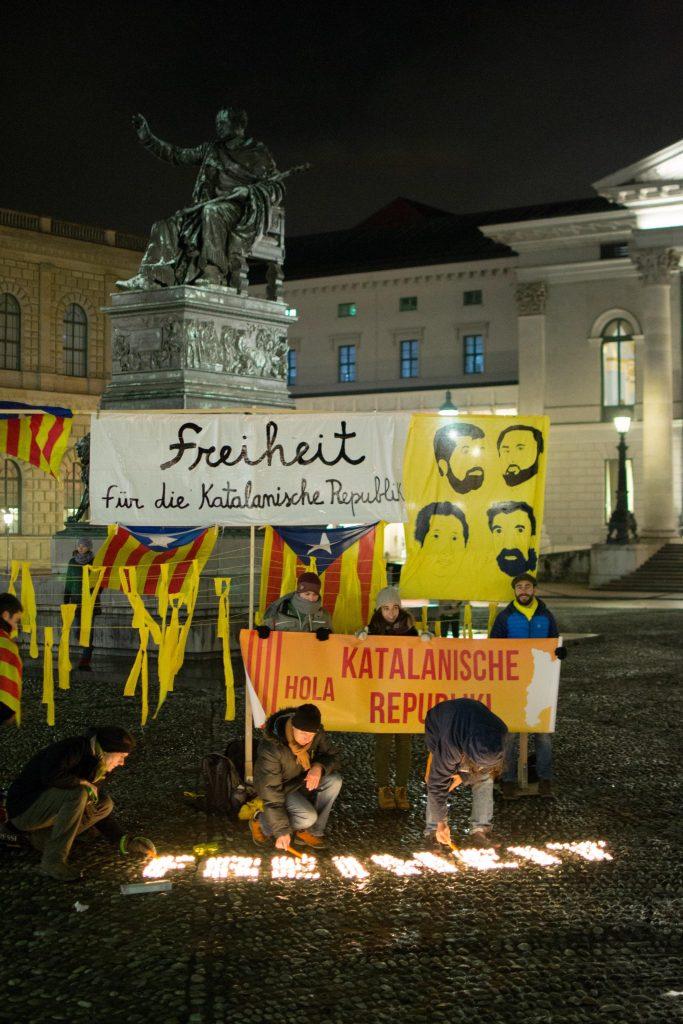 Acció contra els presos polítics del CDR de Munic