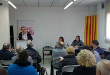 Alfons Palacios, president de MES durant el Consell Polític de la formació   MES
