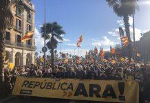 Moment de la manifestació per un govern que implementi la República   Assemblea Nacional Catalana