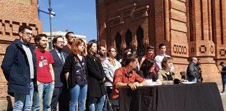 Presentació del manifest 'Front a la repressió sense límits, teixim resposta juvenil. Aturem-los!' | JERC