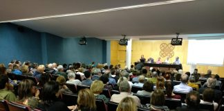 Moment de la presentació del manifest per a la candidatura unitària a Mataró