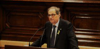 Quim Torra durant el discurs realitzat a la primera sessió d'investidura del Parlaament   Parlament de Catalunya (Miquel González de la Fuente)