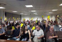 Assemblea oberta de l'ANC de Terrassa en la que es va aprovar l'impuls del projecte de Primàries Catalunya al municipi de cara les eleccions municipals.   Primàries Catalunya