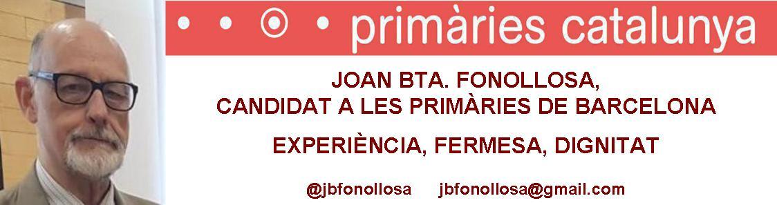 Joan Fonollosa - Candidat de Primàries Barcelona