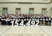 Fotografia de grup un cop validades les signatures de l'ILP per una nova Llei de l'Esport   UFEC