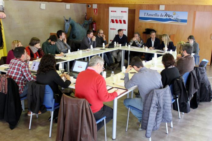 La Comissió Executiva de l'AMI, al Centre d'Interpretació de la Pesca de l'Ametlla de Mar