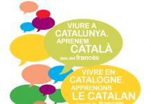 """Coberta de la guia """"Viure a Catalunya. Aprenem català des del francès"""""""