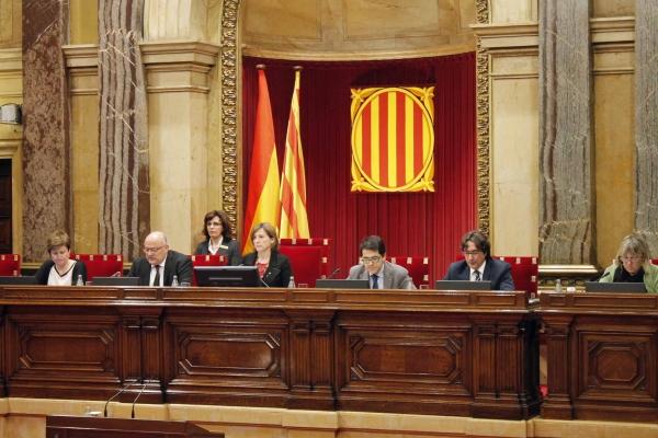Imatge de la sessió de control del Parlament de Catalunya (17/3/2016)