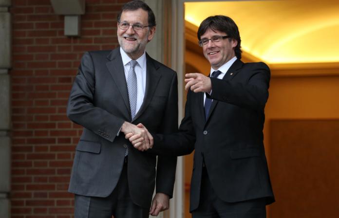 Mariano Rajoy i Carles Puigdemont, al palau de la Moncloa