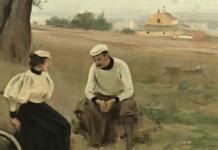 «El descans dels ciclistes» 1886, propietat de la Fundació Daurel