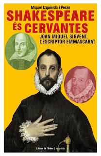 Coberta del llibre Shakespeare és Cervantes, obra de Miquel Izquierdo