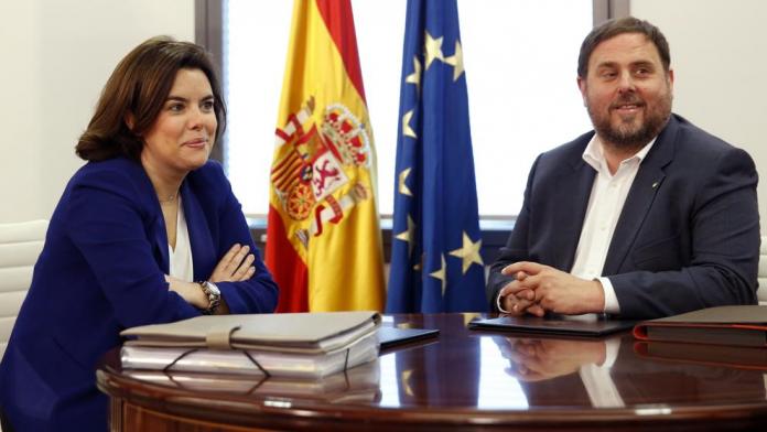 Soraya Sáenz de Santamaría i Oriol Junqueras