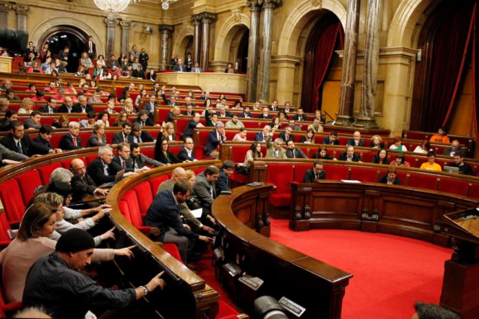 Instantània de les votacions a la cambra catalana (foto: Parlament de Catalunya)