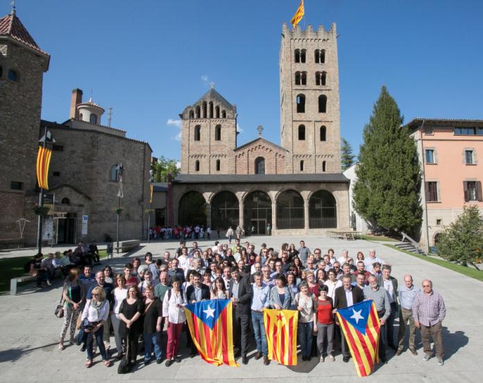 El secretariat de l'Assemblea Nacional Catalana a Ripoll (Fotografia: ANC)