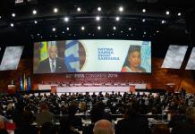 Fotografia d'una sessió del 66è congrés de la FIFA