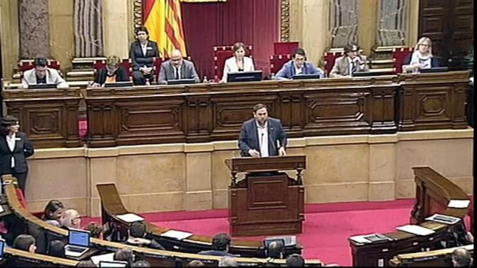Oriol Junqueras defensant els pressupostos del Govern
