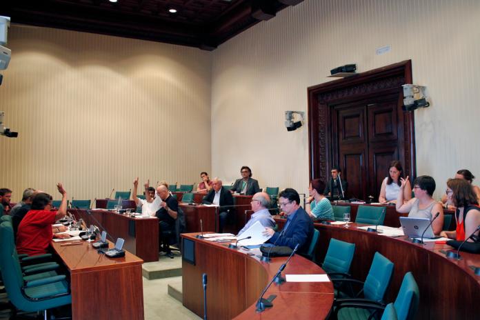 Els diputats votant les propostes de conclusions