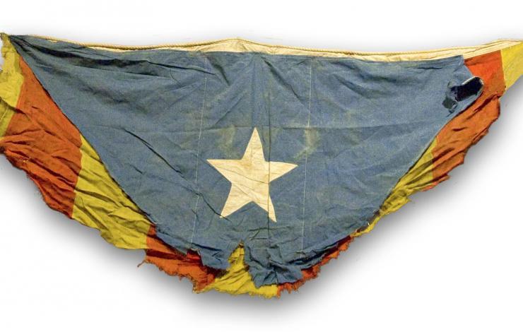 L'estelada que van brandar els voluntaris catalans a la Gran Guerra. És l'estelada més antiga que es conserva, exposada en un lloc d'honor al Museu d'Història de Catalunya.