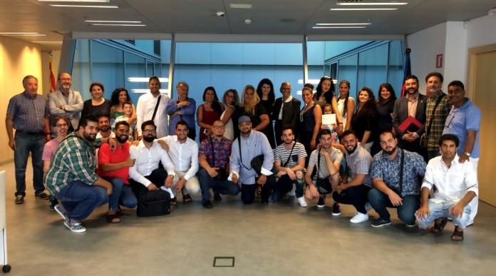 Foto de grup de la presentació de CampusRom