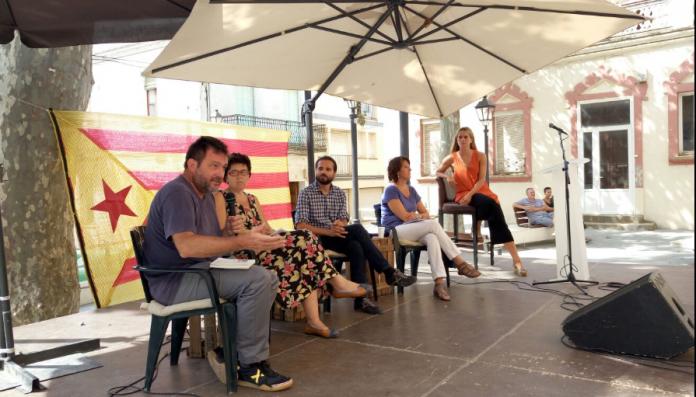 D'esquerra a dreta, els ponents Salvador Cot, Liz Castro, Gerard Gòmez del Moral i Elisenda Paluzie