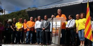 Acte de suport del poble d'Arenys de Munt als imputats pel 9N.