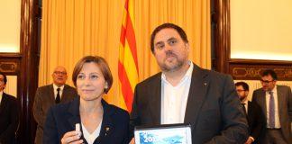 Junqueres entrega els pressupostos a la Presidenta del Parlament | Parlament de Catalunya