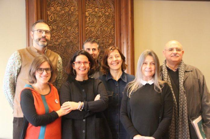Manuel Forcano, director de l'IRL; Paula Jarrin, comissària; Clara Solà-Morales entre altres personalitats,...