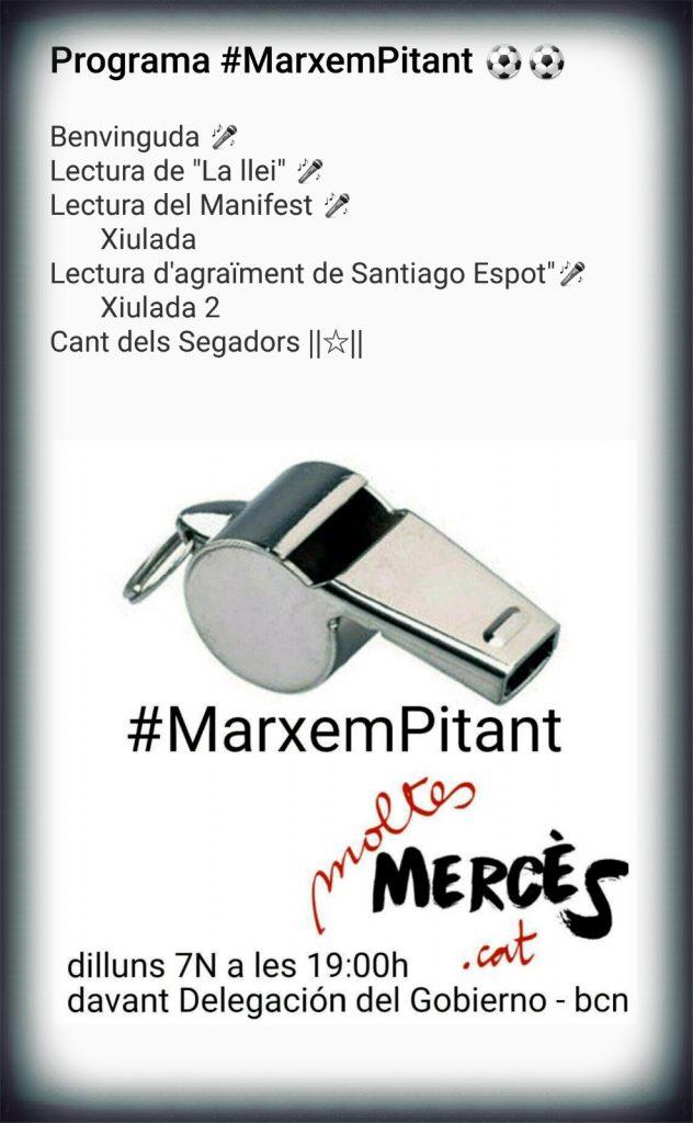 Cartell de la manifestació de suport a Santiago Espot