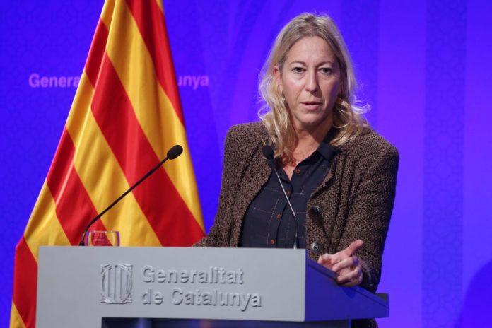 Neus Munté durant la roda de premsa (fotografia: Rubén Moreno)