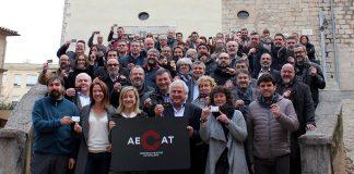 Foto de família dels regidors que han participat de la presentació de l'AECAT a Girona   AMI