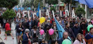 Manifestació per reivindicar l'oficialitat de la llengua asturiana, Oviedo, 9 de maig de 2015