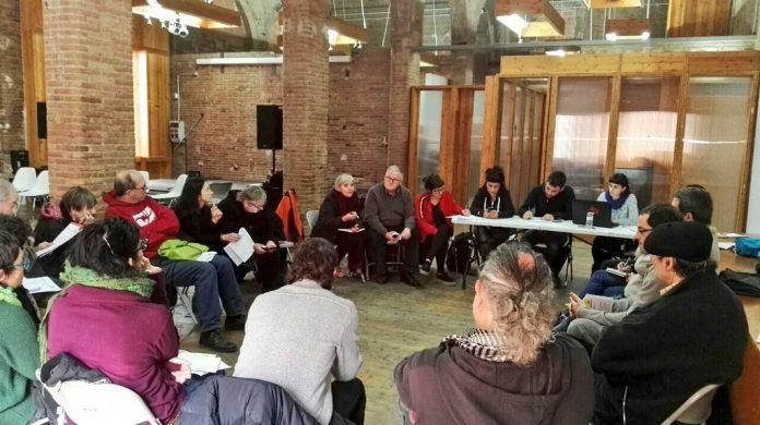 Un dels grups de treball de la trobada de la CUP a Reus | CUP