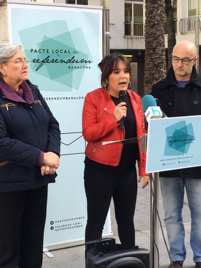 Roda de premsa de presentació del Pacte Local pel Referèndum a Badalona | PLRB