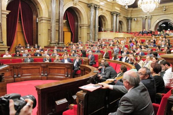 Els diputats votant la proposta de creació de la comissió d'investigació sobre l'operació Catalunya | Parlament de Catalunya