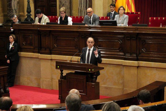 Jordi Turull (JxSí) presentant la proposta de reforma del reglament del Parlament | Parlament de Catalunya