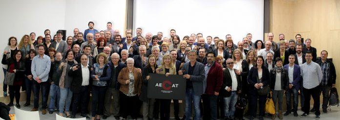 Foto de grup dels càrrecs electe del Baix Llobregat que han assistit a la presentació de l'AECAT | AMI