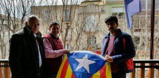 D'esquerra a dreta, en Joan-Paül Udina (PDeCAT), en Jaume Escudé (ERC-AM Esparreguera) i l'Aleix Escursell (CUP)