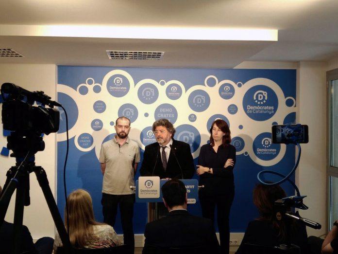 Roda de premsa de Demòcrates de Catalunya d'aquest dilluns   Demòcrates de Catalunya