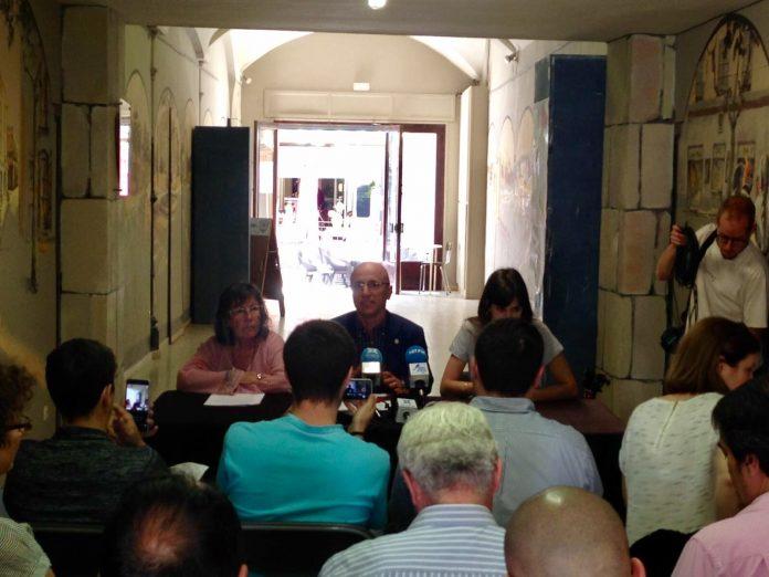 Moment de la presentació de la Coordinadora d'Electes del Maresme