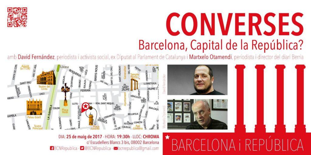 Cartell de l'acte Barcelona, Capital de la República