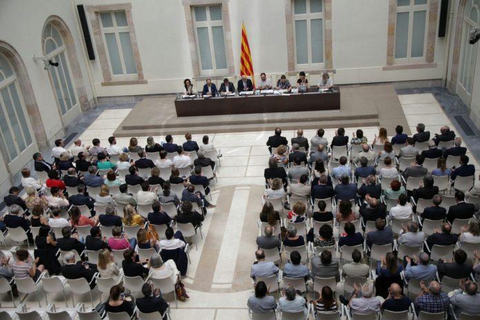 Presentació de la Llei del referèndum d'autodeterminació al Parlament | JxSí