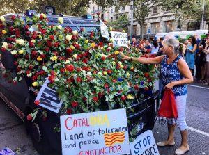 Mostres de suport als cossos policials catalans