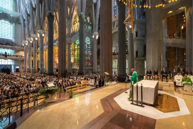 Moment de la Missa per les víctimes a la Sagrada Família | Sagrada Família