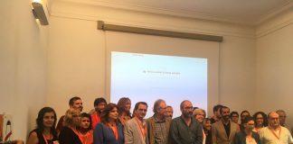 Moment de la presentació de la campanya 'Escoles Obertes'   Òmnium Cultural