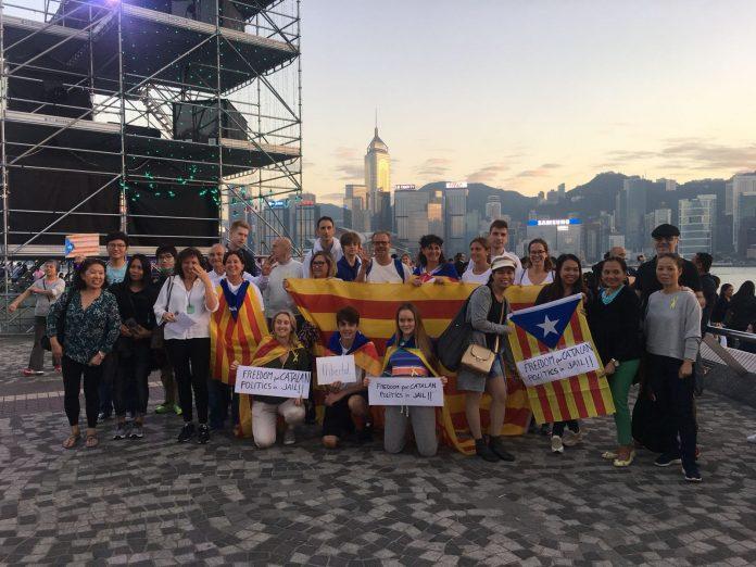 Concentració per l'alliberament dels presos polítics catalans a Hong Kong | Suki Yip