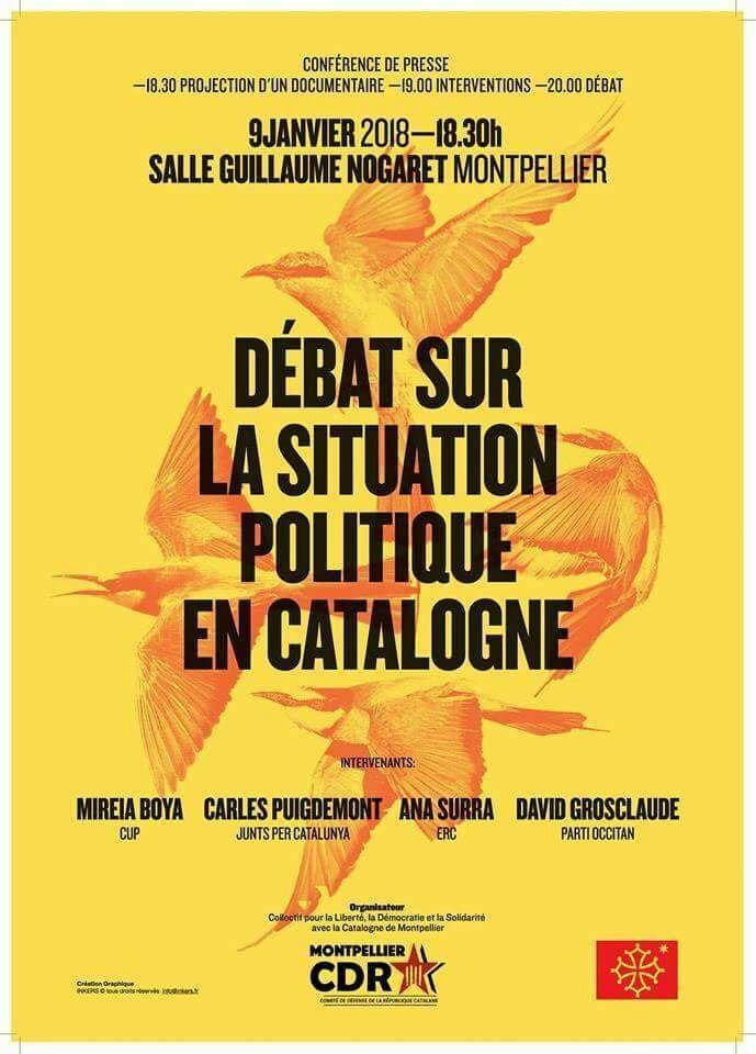 Cartell de l'acte organitzat pel CDR de Montpeller   CDR Montpeller
