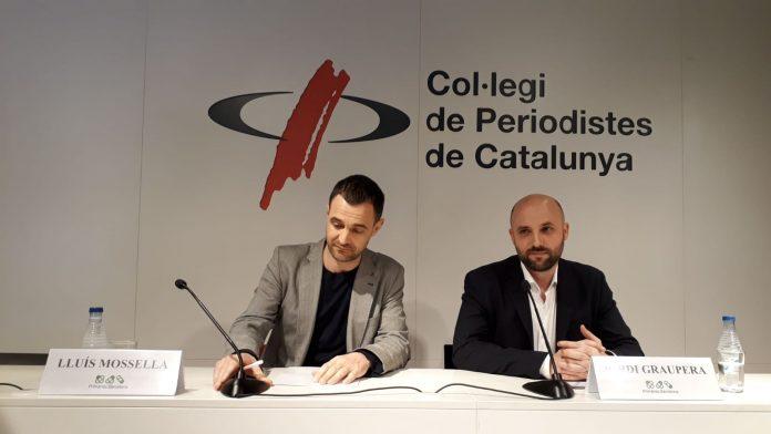 Roda de premsa de Jordi Graupera i Lluís Mosella al col·legi de periodistes | Llorenç Prats