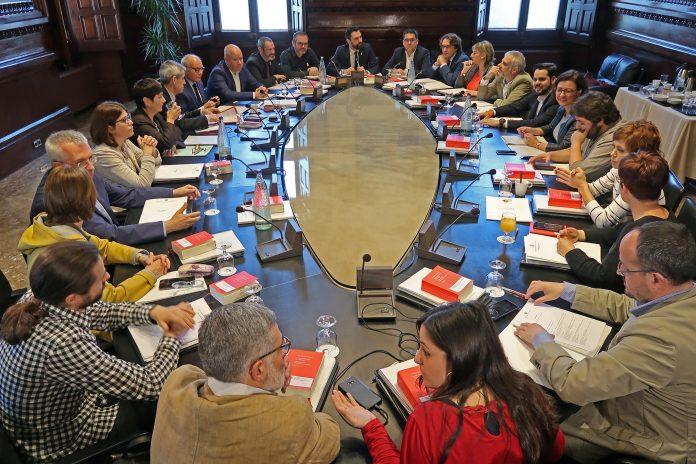La Mesa i la Junta de Portaveus reunides | Parlament de Catalunya